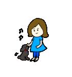 女の子とトイプの可愛いスタンプ(個別スタンプ:03)
