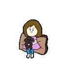 女の子とトイプの可愛いスタンプ(個別スタンプ:04)