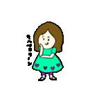 女の子とトイプの可愛いスタンプ(個別スタンプ:05)