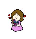 女の子とトイプの可愛いスタンプ(個別スタンプ:06)