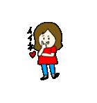 女の子とトイプの可愛いスタンプ(個別スタンプ:08)