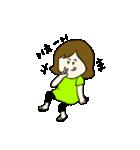 女の子とトイプの可愛いスタンプ(個別スタンプ:09)