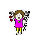 女の子とトイプの可愛いスタンプ(個別スタンプ:12)
