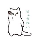 もっちり白猫の可愛い使いやすいスタンプ(個別スタンプ:01)