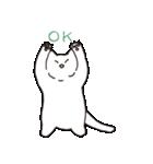 もっちり白猫の可愛い使いやすいスタンプ(個別スタンプ:04)