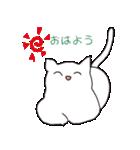 もっちり白猫の可愛い使いやすいスタンプ(個別スタンプ:06)