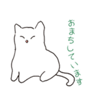 もっちり白猫の可愛い使いやすいスタンプ(個別スタンプ:10)