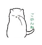 もっちり白猫の可愛い使いやすいスタンプ(個別スタンプ:13)