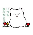 もっちり白猫の可愛い使いやすいスタンプ(個別スタンプ:16)