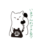 もっちり白猫の可愛い使いやすいスタンプ(個別スタンプ:19)