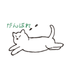 もっちり白猫の可愛い使いやすいスタンプ(個別スタンプ:25)
