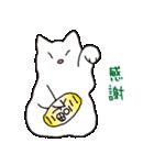 もっちり白猫の可愛い使いやすいスタンプ(個別スタンプ:26)