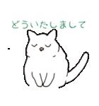 もっちり白猫の可愛い使いやすいスタンプ(個別スタンプ:28)