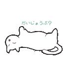 もっちり白猫の可愛い使いやすいスタンプ(個別スタンプ:37)