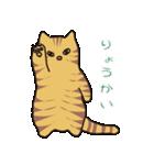 キジトラ猫の毎日使いやすいスタンプ(個別スタンプ:01)