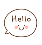 ふきだしの英語スタンプ(個別スタンプ:01)