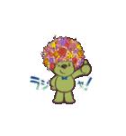 フラワーアフロのガーデンベアスタンプ♪♪(個別スタンプ:02)