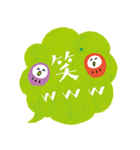 ふきだしデカ文字ダルマ添え【日常】(個別スタンプ:21)
