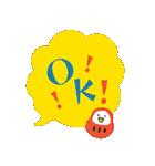 ふきだしデカ文字ダルマ添え【日常】(個別スタンプ:32)