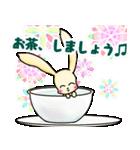 可愛いうさぎと花 日常と習い事(個別スタンプ:01)