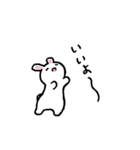 無難にかわいいウサギさんのスタンプ(個別スタンプ:03)