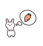 無難にかわいいウサギさんのスタンプ(個別スタンプ:07)