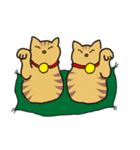 茶トラ猫の使いやすい可愛いスタンプ(個別スタンプ:39)