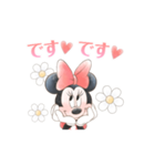 ミニーマウス(かわいく敬語)(個別スタンプ:16)
