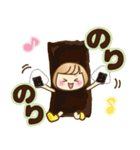 おかっぱ女子【ダジャレ】(個別スタンプ:21)