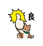 緑バンダナのシバ with Kanji(個別スタンプ:02)