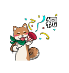 緑バンダナのシバ with Kanji(個別スタンプ:05)