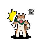 緑バンダナのシバ with Kanji(個別スタンプ:06)