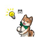 緑バンダナのシバ with Kanji(個別スタンプ:08)