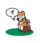 緑バンダナのシバ with Kanji(個別スタンプ:16)