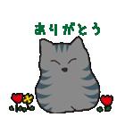 サバトラ猫の毎日使いやすいスタンプ(個別スタンプ:16)