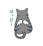 サバトラ猫の毎日使いやすいスタンプ(個別スタンプ:22)