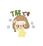前髪短めな女の子の「春のことば」(個別スタンプ:03)