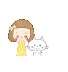 前髪短めな女の子の「春のことば」(個別スタンプ:22)