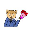 紳士な猫(個別スタンプ:07)