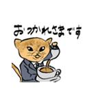 紳士な猫(個別スタンプ:13)