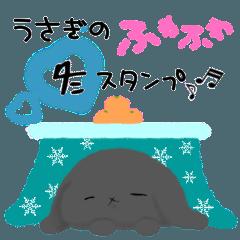 冬のふわふわうさぎ
