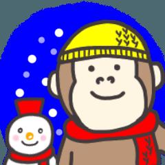 ゴリランスタンプ(冬ver)
