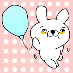 [LINEスタンプ] 正直すぎるウサギ (1)