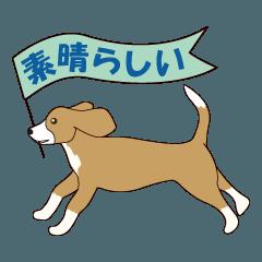 ビーグルと柴のミックス犬KABUスタンプ♪