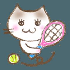 テニスにゃんこ