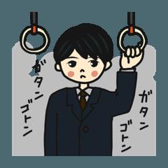 スーツの会社員男子(黒髪丸目)