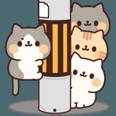 ネコがいっぱいアニメーションスタンプ