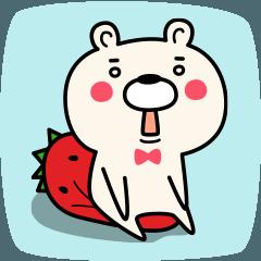 イチゴがすきなクマ