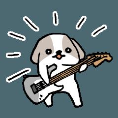 ギタリストのためのギター犬スタンプ