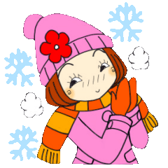ひま子ちゃん165大人女子の冬スタンプ2